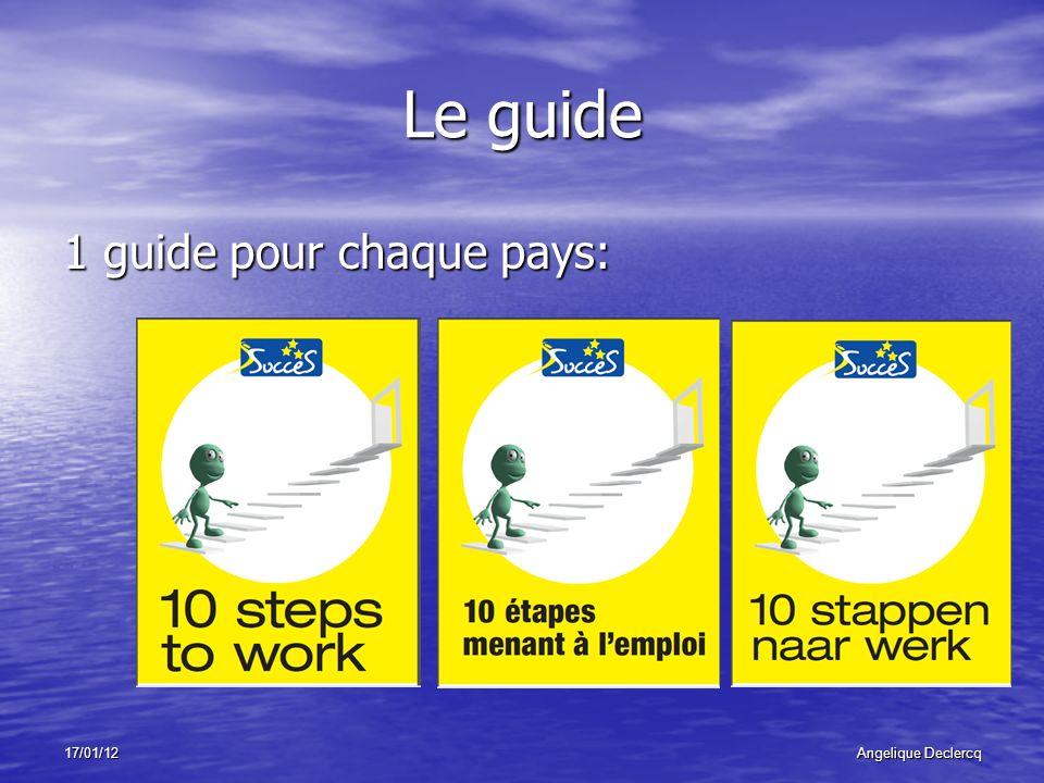17/01/12Angelique Declercq Le guide 1 guide pour chaque pays: