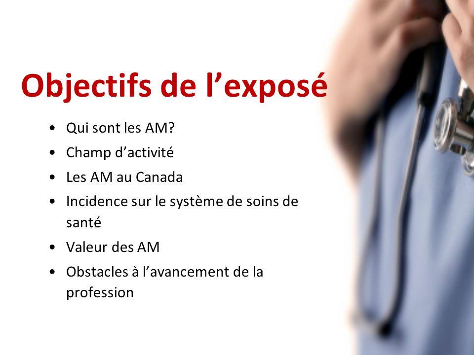 Objectifs de lexposé Qui sont les AM.