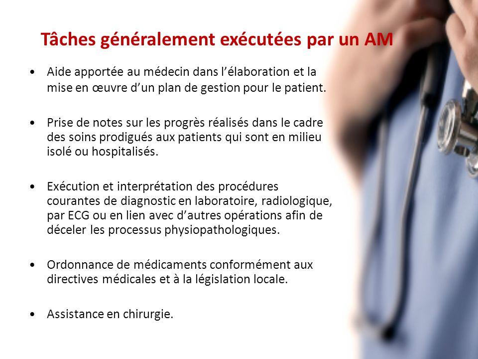 Aide apportée au médecin dans lélaboration et la mise en œuvre dun plan de gestion pour le patient.