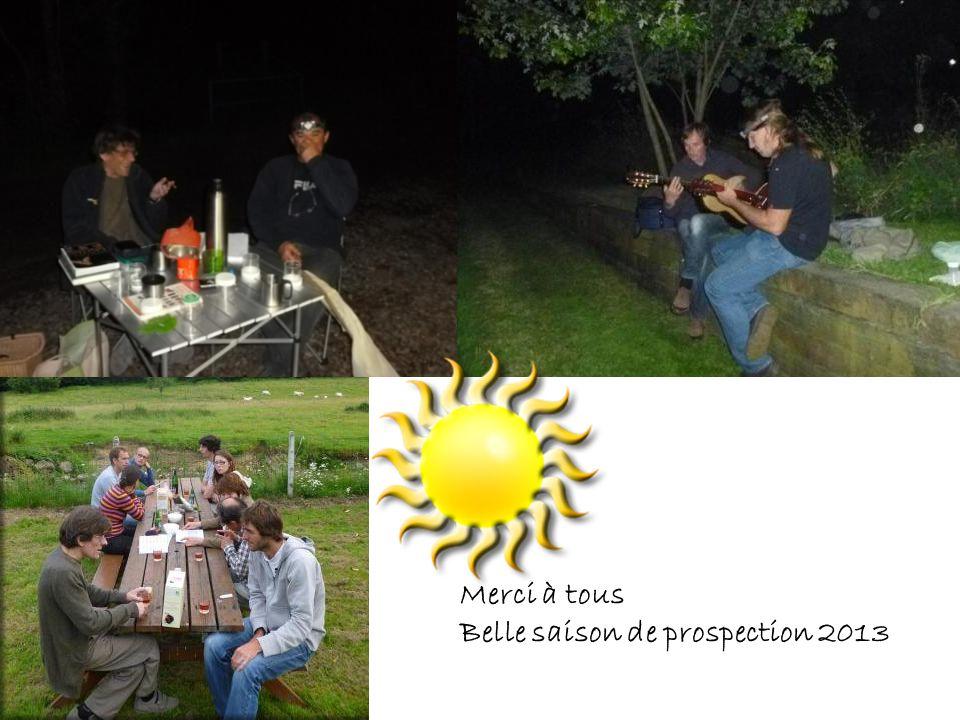 Merci à tous Belle saison de prospection 2013
