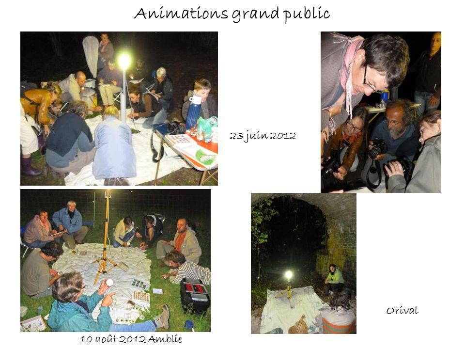 Animations grand public 23 juin 2012 10 août 2012 Amblie Orival