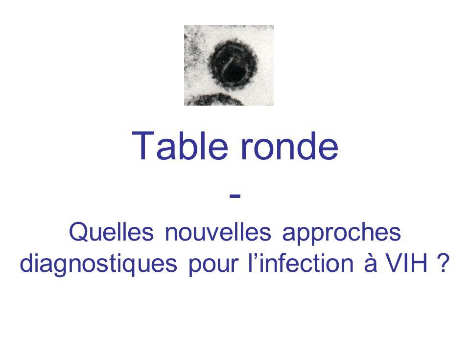 Table ronde - Quelles nouvelles approches diagnostiques pour linfection à VIH