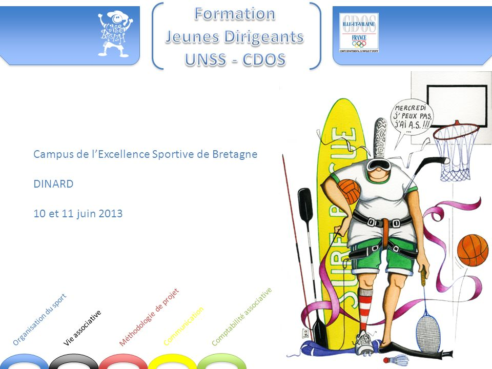 Communication Comptabilité associative Organisation du sport Vie associative
