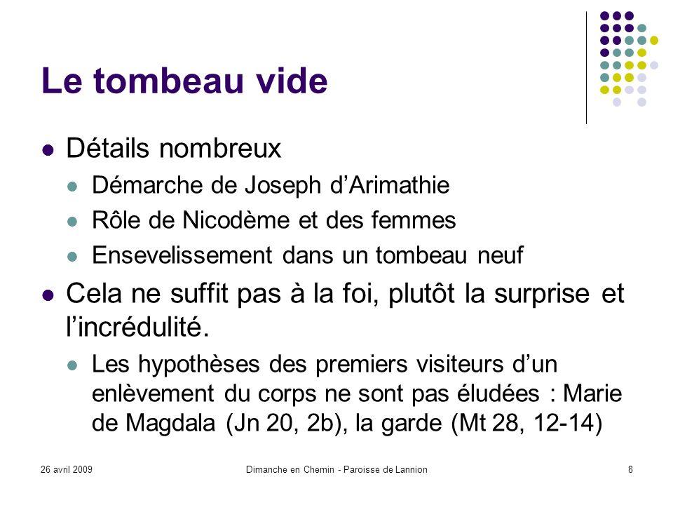 26 avril 2009Dimanche en Chemin - Paroisse de Lannion19 Vers un au-delà de la personne Réincarnation : La personne nest plus unique.
