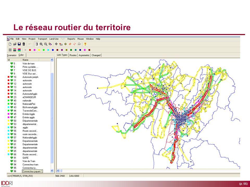 (p. 55) Le réseau routier du territoire