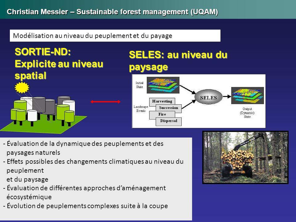- Évaluation de la dynamique des peuplements et des paysages naturels - Effets possibles des changements climatiques au niveau du peuplement et du pay