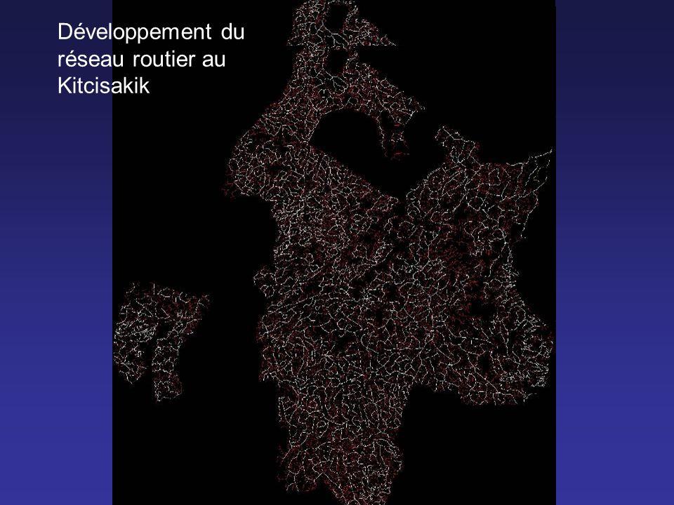 0 Développement du réseau routier au Kitcisakik