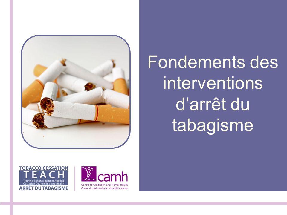 Fondements des interventions darrêt du tabagisme