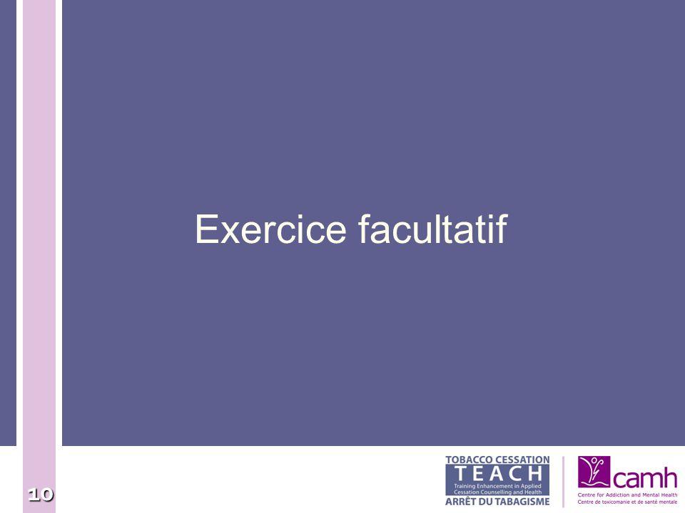 10 Exercice facultatif