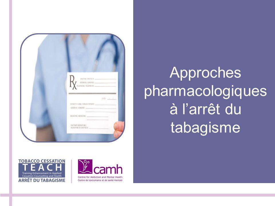 Approches pharmacologiques à larrêt du tabagisme
