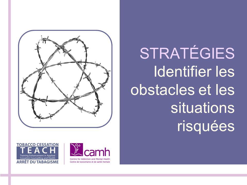 STRATÉGIES Identifier les obstacles et les situations risquées