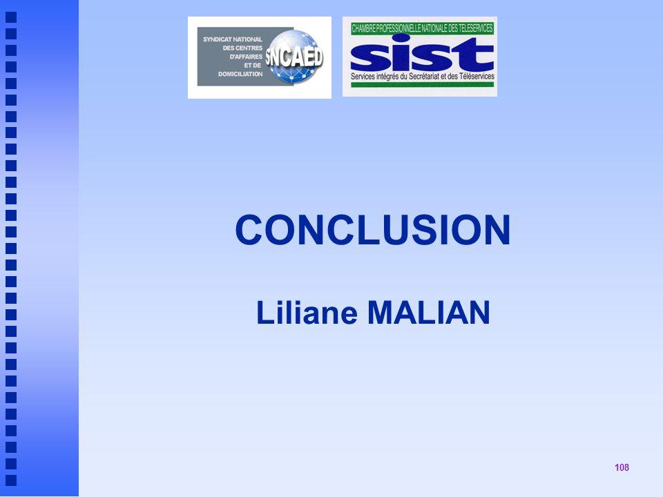 108 CONCLUSION Liliane MALIAN