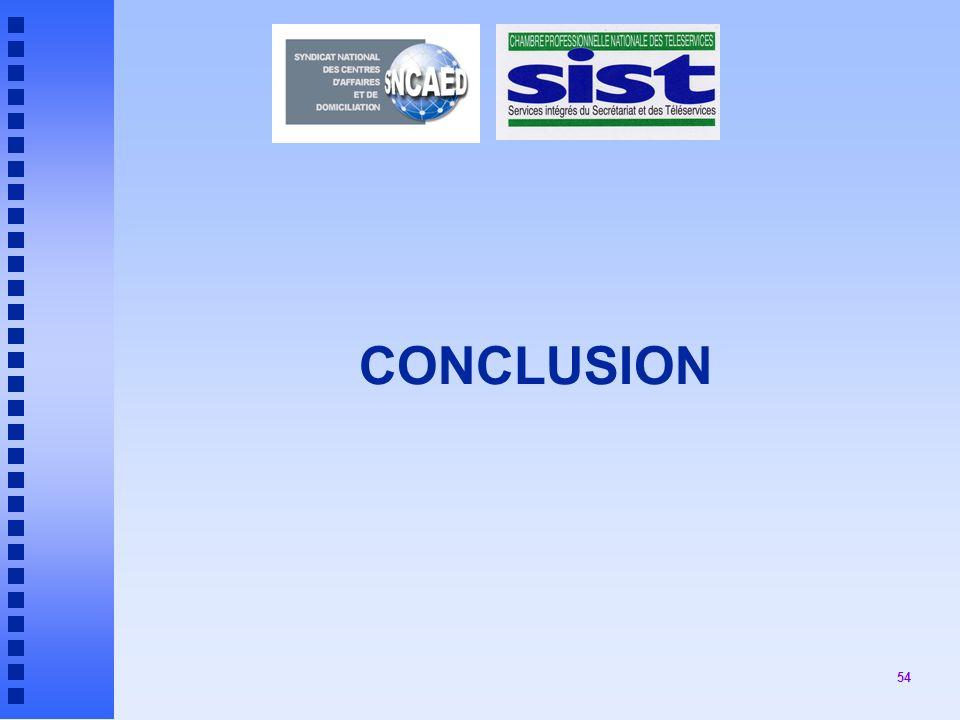 54 CONCLUSION