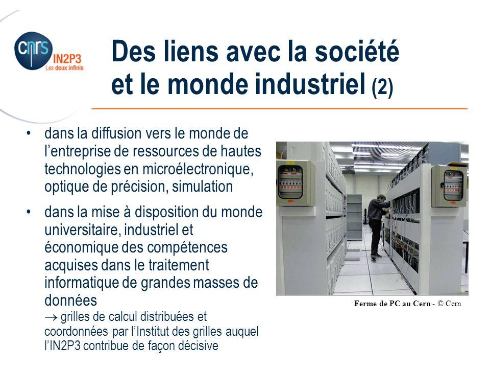______________________________________________ Des liens avec la société et le monde industriel (2) dans la diffusion vers le monde de lentreprise de