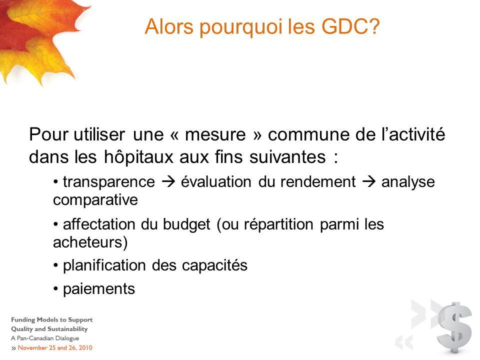 Alors pourquoi les GDC.