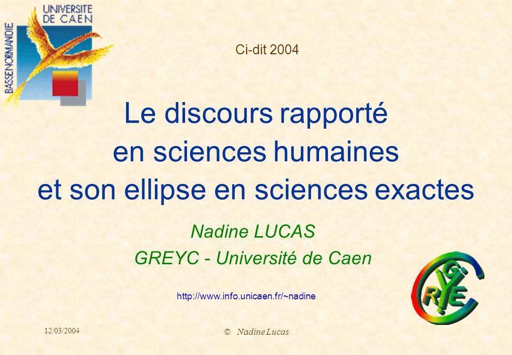 3/2004 Nadine Lucas-12- Géographie Mille, M.