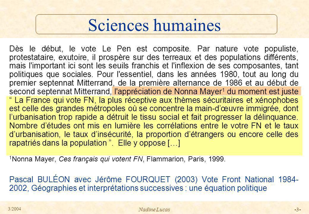3/2004 Nadine Lucas-24- ARB avec citation 8 §32 §9 §14 P1 P2 P3 P4 P5 §1 §2 §28 forme plurielle patron standard forme biographique §45 Tamba, I.
