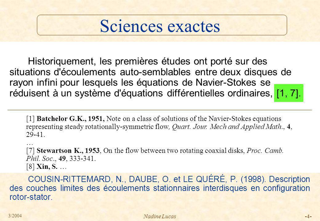 3/2004 Nadine Lucas-25- P1 §1 §2 §3 §4 §5 remerciements 1 s5 s6 s7 s8 P2 P4 s2 s1 P3 s3 s4 Guermond, J.L.