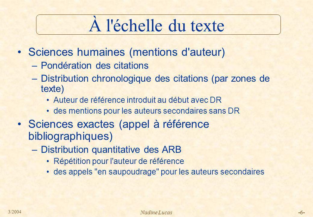 3/2004 Nadine Lucas-37- Citation en exergue Guérir, dit-elle France Dhorne Le corps souffrant n est pas un témoin fiable.