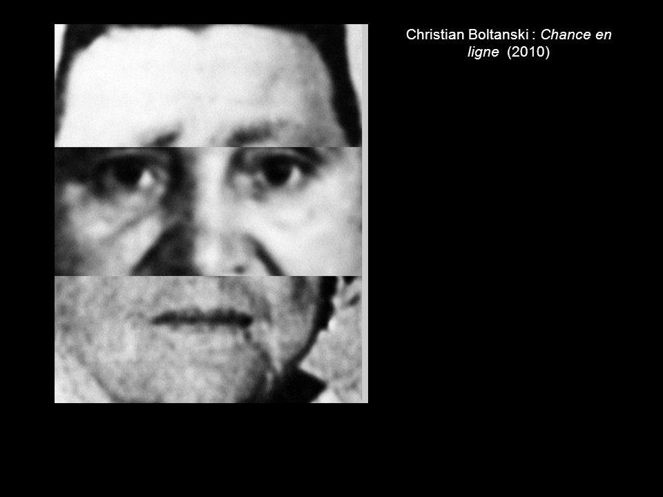 Christian Boltanski : Chance en ligne (2010)