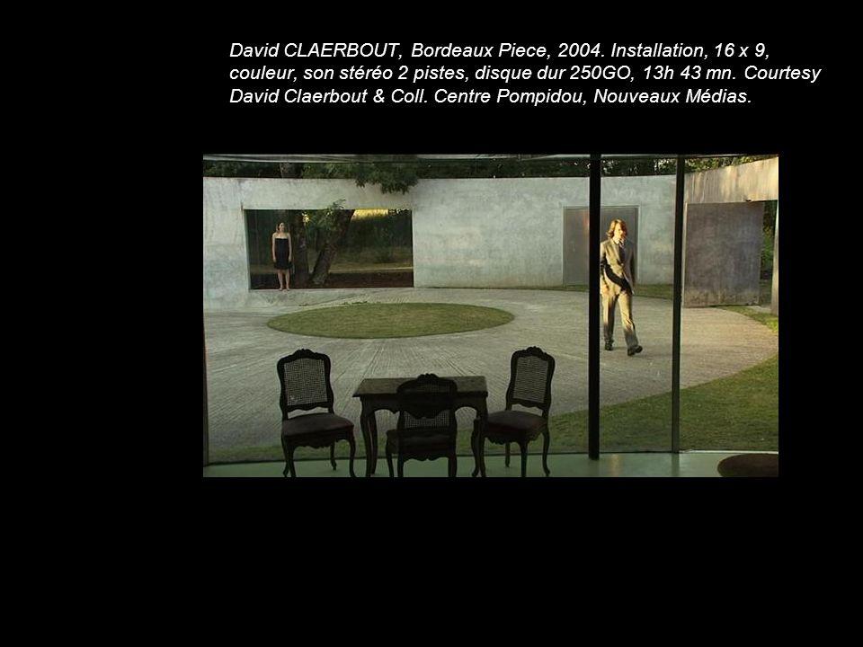 David CLAERBOUT, Bordeaux Piece, 2004. Installation, 16 x 9, couleur, son stéréo 2 pistes, disque dur 250GO, 13h 43 mn. Courtesy David Claerbout & Col