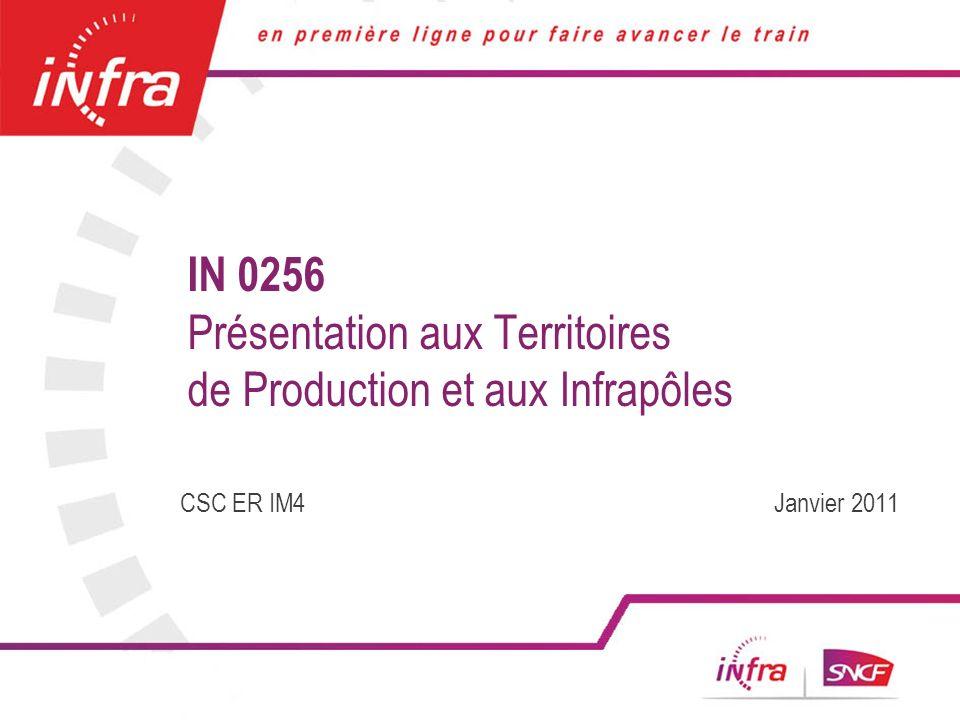 1 IN 0256 Présentation aux Territoires de Production et aux Infrapôles CSC ER IM4 Janvier 2011