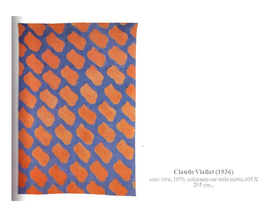 Claude Viallat (1936) sans titre, 1970, colorants sur toile métis,305 X 205 cm.,