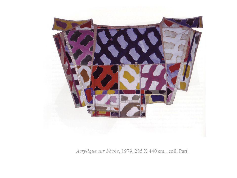 Acrylique sur bâche, 1979, 285 X 440 cm., coll. Part.