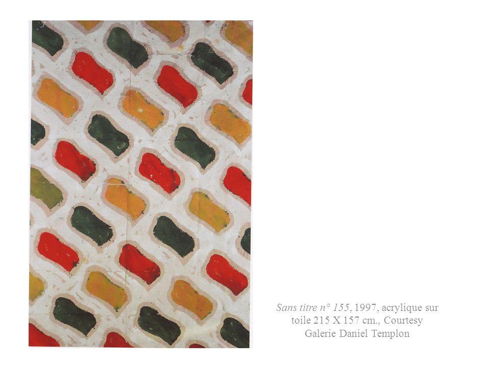 Acrylique sur taie d oreiller, 2002, 82 X 52 cm., coll. Part.