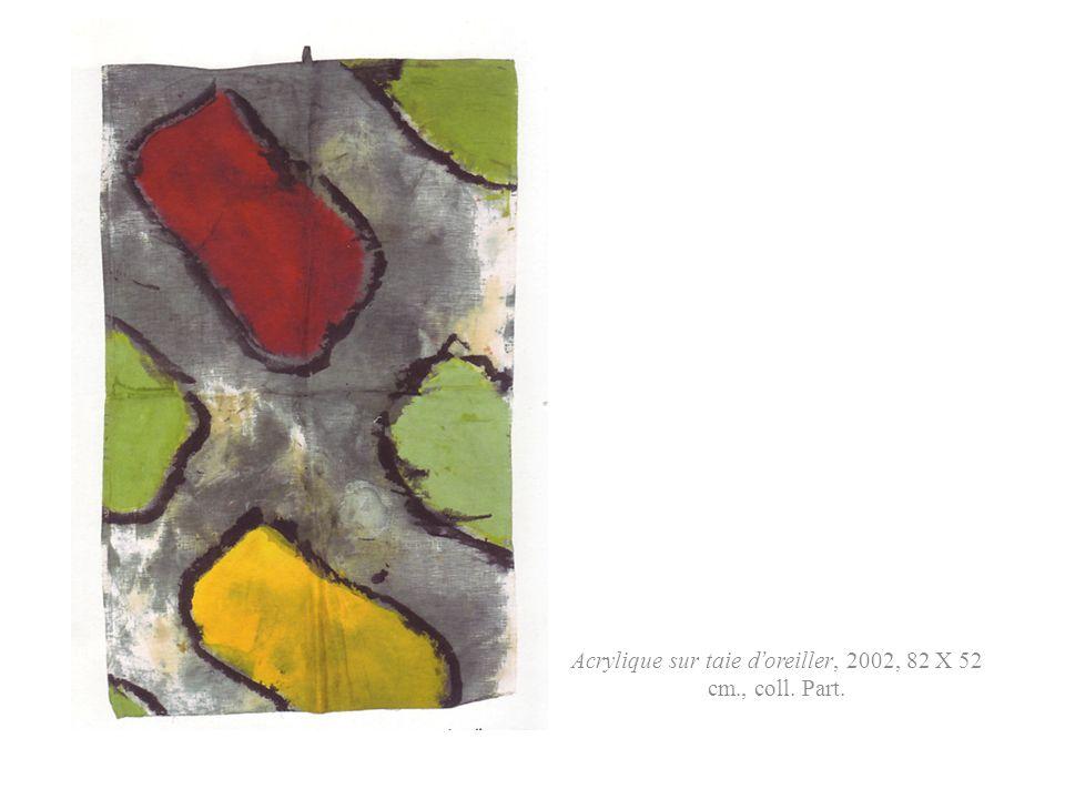 Acrylique sur bâche recto verso, recto, Biennale de Venise, 1988, 600 X 420 cm., coll. Part.