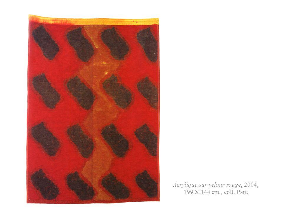 Acrylique sur velour rouge, 2004, 199 X 144 cm., coll. Part.