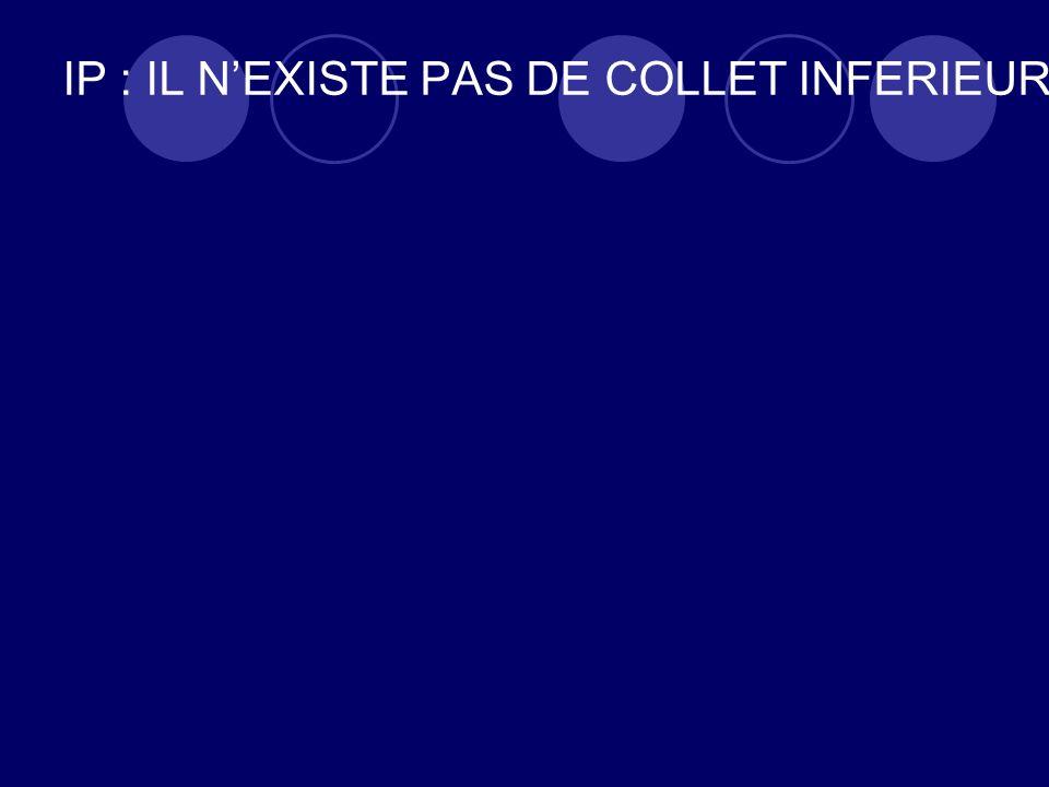 IP : IL NEXISTE PAS DE COLLET INFERIEUR