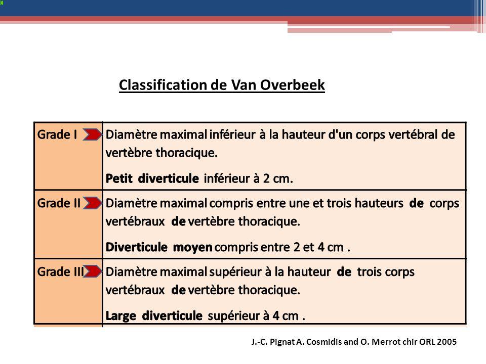 Classification de Van Overbeek J.-C. Pignat A. Cosmidis and O. Merrot chir ORL 2005