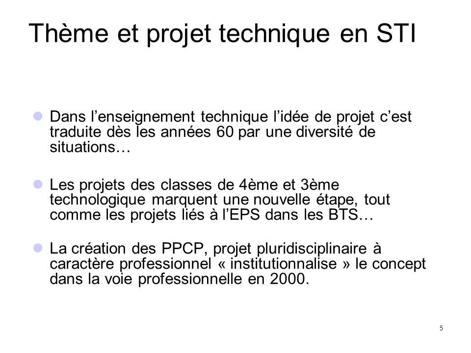 Le pilotage pédagogique des projets A minima, imposer un « projet » dans chaque section de bac professionnel.