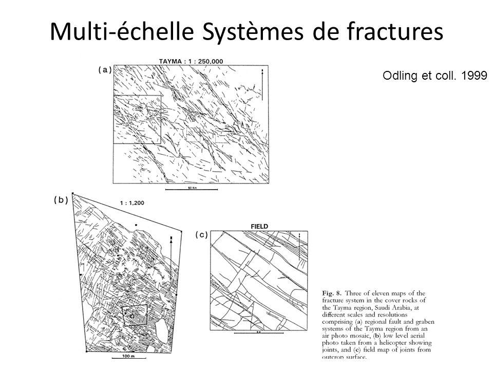 Multi-échelle Systèmes de fractures Odling et coll. 1999