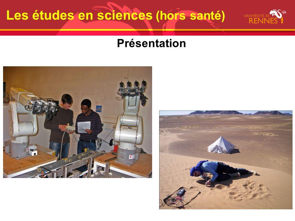 Les études en sciences (hors santé) Présentation