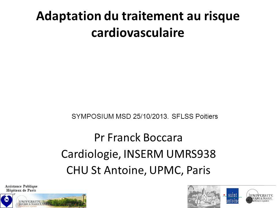 Pr Franck Boccara Cardiologie, INSERM UMRS938 CHU St Antoine, UPMC, Paris Assistance Publique Hôpitaux de Paris Adaptation du traitement au risque car