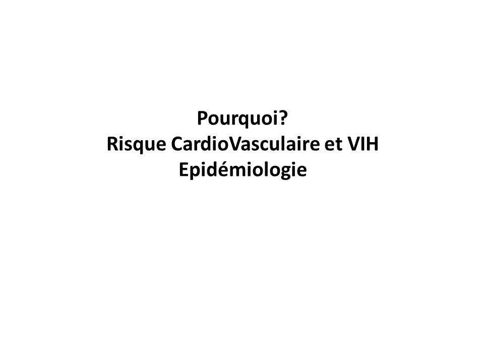 Pourquoi? Risque CardioVasculaire et VIH Epidémiologie