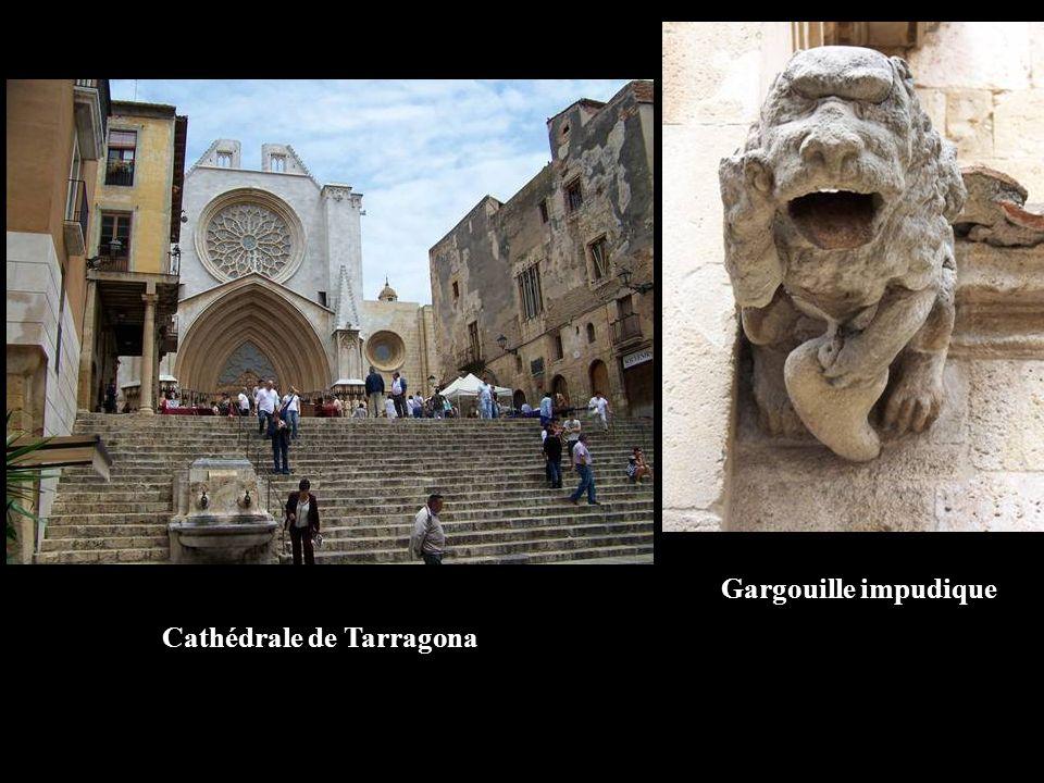 Cathédrale de Tarragona Gargouille impudique