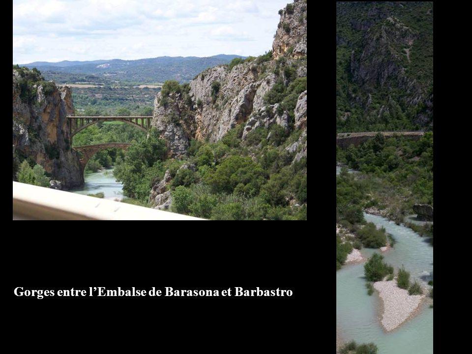 Gorges entre lEmbalse de Barasona et Barbastro
