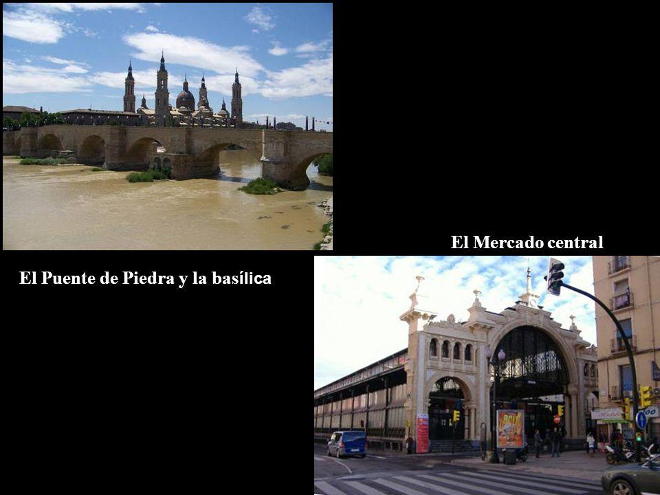 El Mercado central El Puente de Piedra y la bas ílica