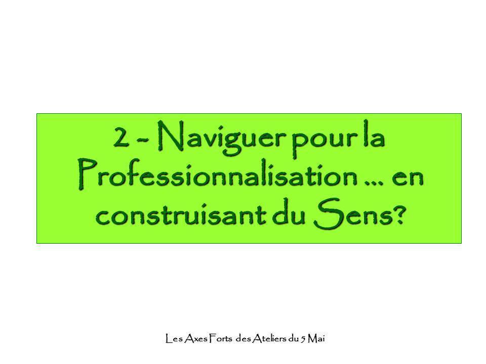 Les Axes Forts des Ateliers du 5 Mai 2 - Naviguer pour la Professionnalisation … en construisant du Sens?