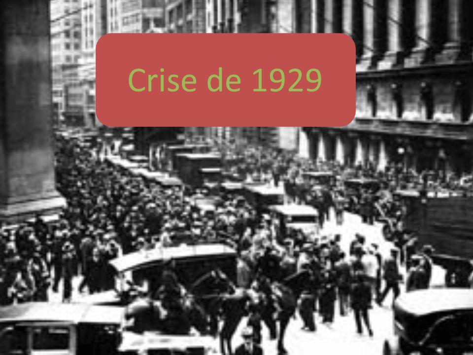 La crise de 1929 marque une rupture dans la dynamique du capitalisme en raison dune part de labsence de reprise spontanée (la dépression a duré une décennie) dautre part, de leffondrement de la production et des prix et du chômage massif, qui lui donnent une ampleur jusque là inégalée.