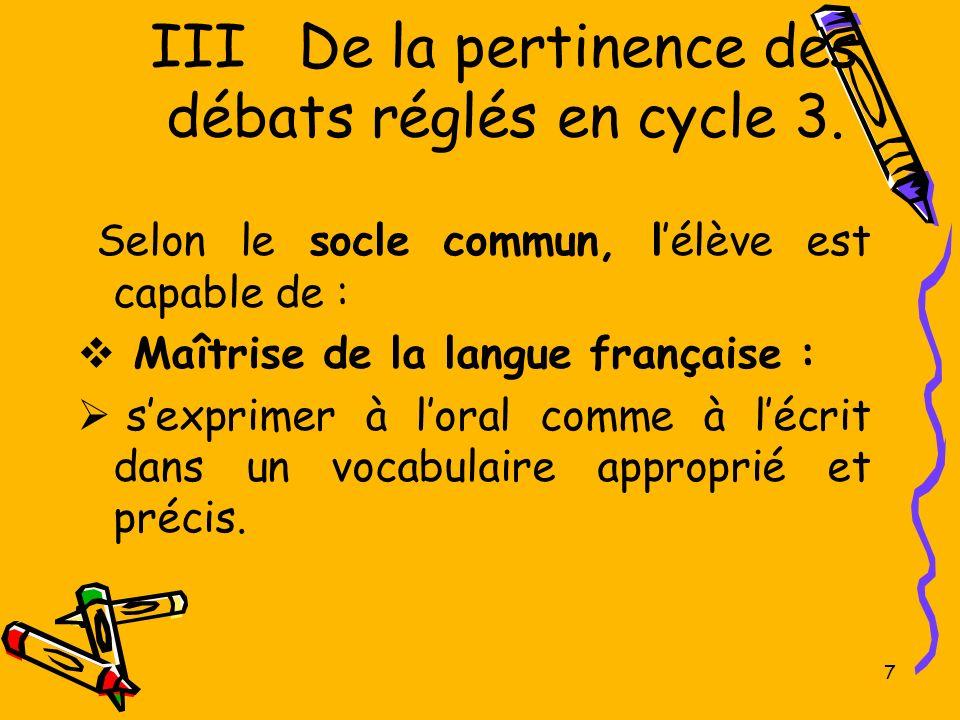 18 VIII.Mise en place des débats réglés. Conditions matérielles.