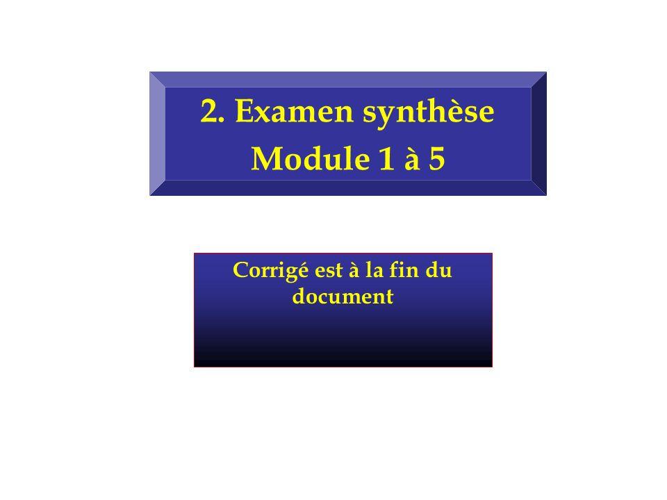 2. Examen synthèse Module 1 à 5 Corrigé est à la fin du document