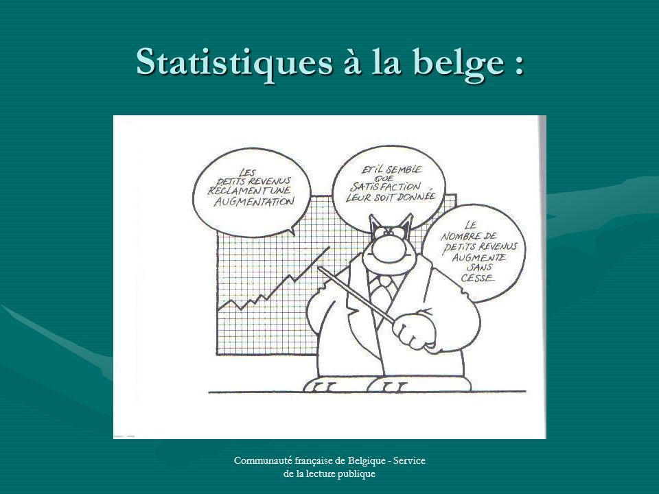 Communauté française de Belgique - Service de la lecture publique Statistiques à la belge :