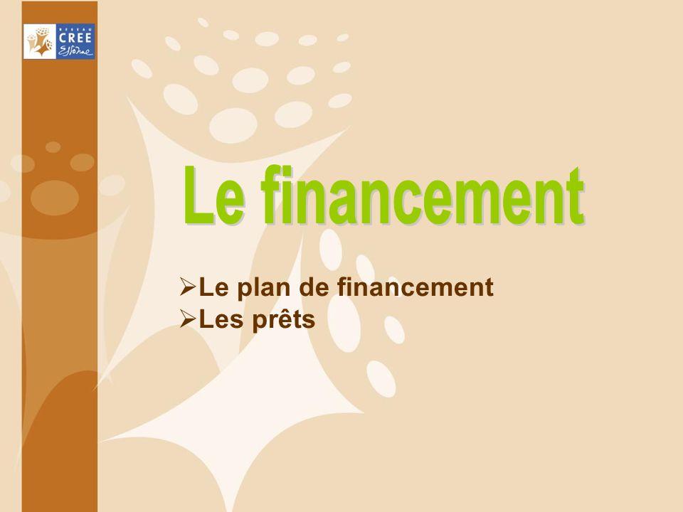 Le plan de financement Les prêts