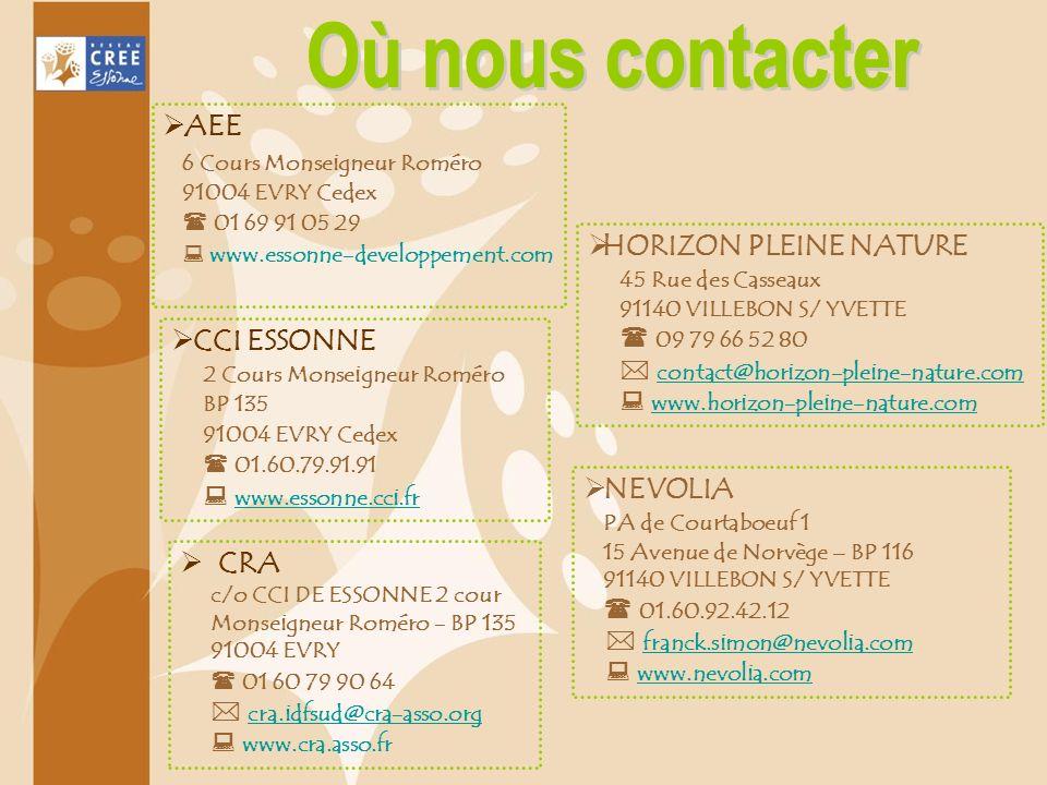 CCI ESSONNE 2 Cours Monseigneur Roméro BP 135 91004 EVRY Cedex 01.60.79.91.91 www.essonne.cci.fr HORIZON PLEINE NATURE 45 Rue des Casseaux 91140 VILLE