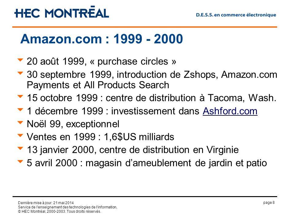 page 8 Dernière mise à jour: 21 mai 2014 Service de l enseignement des technologies de l information, © HEC Montréal, 2000-2003.