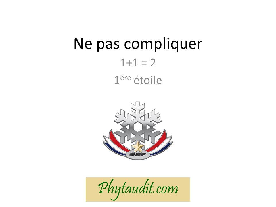 Ne pas compliquer 1+1 = 2 1 ère étoile Phytaudit.com
